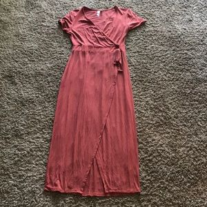 Francesca's Calf-Length Dress with Front Slit